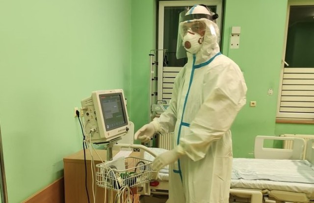 Szpital Powiatowy w Oświęcimiu zwiększa ilość łóżek covidowych. Wszystkie już zajęte.