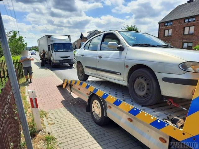 Wypadek w Wierzbiu. 36-letnia kobieta trafiła do szpitala zderzeniu z ciężarówką na drodze krajowej nr 45