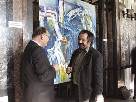 Pomysł powołania Instytutu zrodził się podczas Kongresu Kultury Zagłębia. Na zdjęciu Zbigniew Studencki i Ryszard Szymonowicz.
