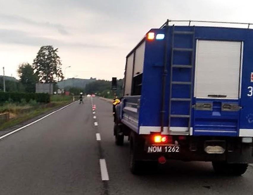 DK 87. W Rytrze wypadek zablokował drogę do przejścia granicznego na Słowację