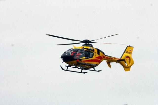 Na os. Irysa lądował z śmigłowiec Lotniczego Pogotowia Ratunkowego