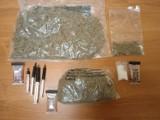 Zgorzelec: Diler jest już w rękach policji. Znaleziono u niego ponad 70 działek handlowych metamfetaminy i ponad 2360 działek marihuany