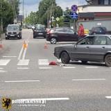 Potrącenie 11-latka jadącego na hulajnodze elektrycznej w Czersku 10.07.2021 r. Dziecko zabrał śmigłowiec LPR
