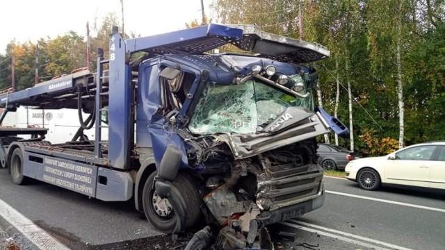 Zderzenie ciężarówek w Bieruniu. Kierowcy szukają świadków zdarzenia