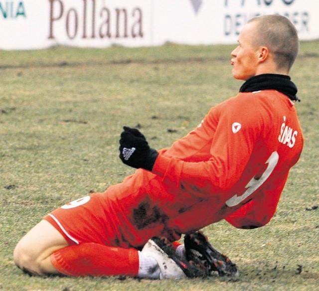 Tak fetuje ósmego gola widzewski Litwin Darvydas Sernas
