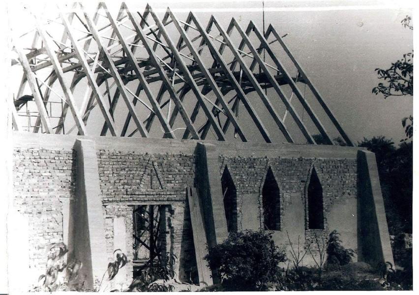 Kościół w Gostchorzu spłonął około 1991 r. Już wtedy...