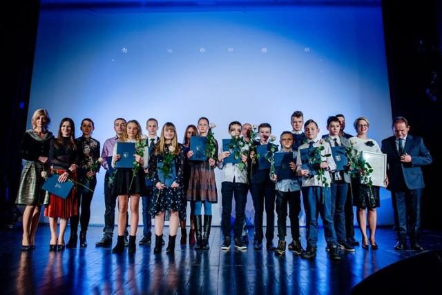Wręczenie nagród podczas Koncertu Noworocznego w Lublińcu.