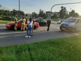 Nowy Sącz wypadek. Jedna osoba trafiła do szpitala po zderzeniu aut na Rondzie Solidarności [ZDJĘCIA]