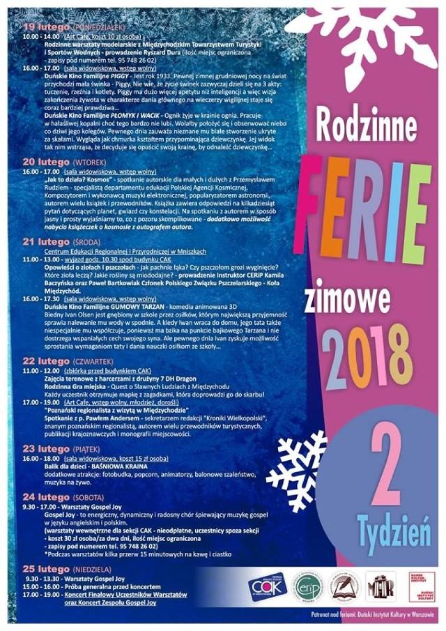 Ferie Zimowe 2018 w powiecie międzychodzkim