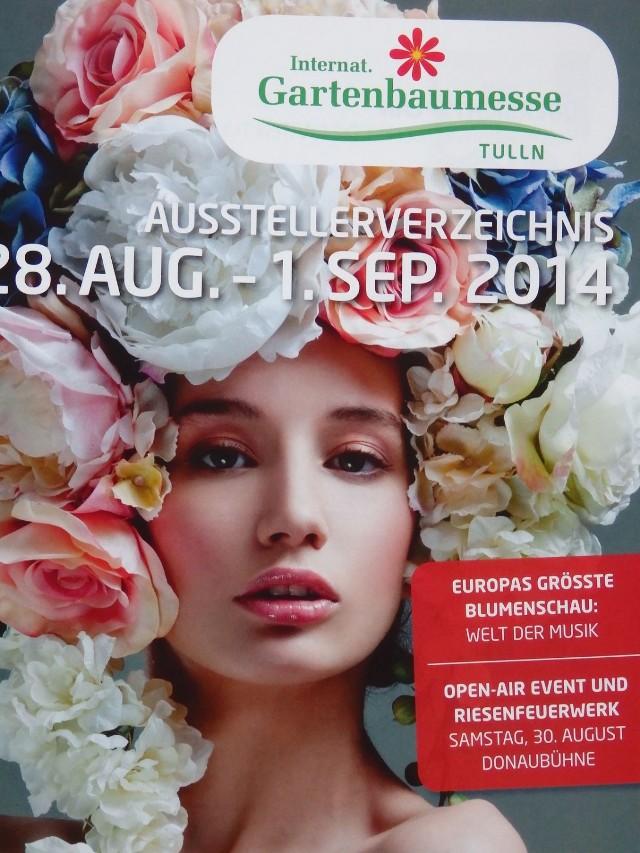 Plakat targów ogrodniczych (Gartenbaumesse). 28.08-01.09.2014 Fot. C. Markiewicz