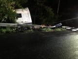 Wypadek ciągnika siodłowego pod Zbąszyniem [FOTO]
