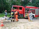 Ogromy pożar lasu i sprawna akcja służb. Tak wyglądały ćwiczenia w Ostrowcu (ZDJĘCIA)