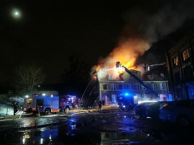 Pożar pustostanu w Gdańsku 24.01.2021