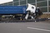 Wypadek na A1 w Bełku. Trzy osoby są ranne NOWE ZDJĘCIA