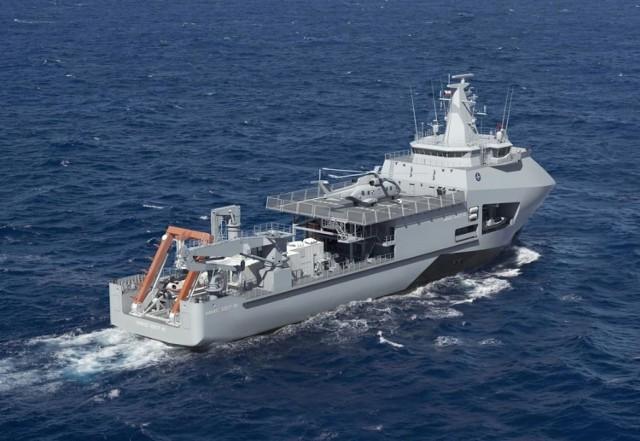 Wizualizacje okrętu, który miałby powstać w ramach Programu Ratownik