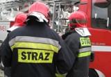 Pożar składowiska opon w Katowicach. W akcji uczestniczyło 8 zastępów straży pożarnej