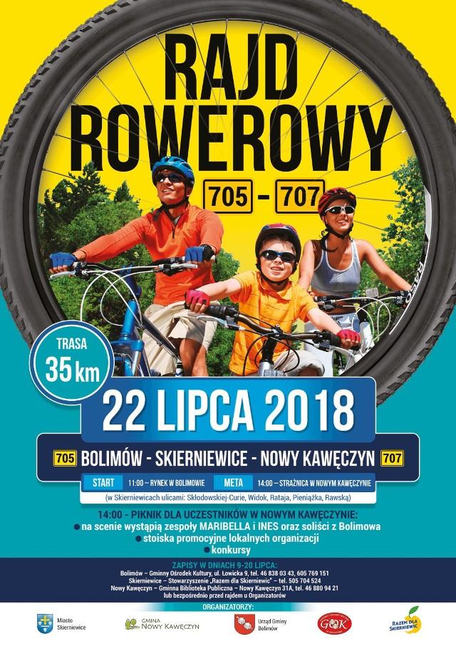 Kolejna edycja rajdu rowerowego 705-707 odbędzie się w niedzielę, 22 lipca. Rajd wystartuje z Rynku w Bolimowie o godz. 11. Można będzie się zapisać przed startem.