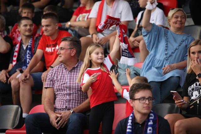Kibice na meczu Polska - Hiszpania