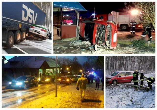 Poniedziałek, 14 stycznia, był dla kierowców dniem próby. Niemal w całym województwie na drogach zrobiło się bardzo ślisko. Miejscami jezdnie były pokryte cienką warstwą lodu. Nie trzeba było długo czekać na rezultaty. W różnych częściach województwa lubuskiego dochodziło do wypadków i kolizji.  Było tak ślisko, że w niektórych miejscach drogi przypominały lodowisko. Widać to doskonale na filmie poniżej, który został nagrany przez strażaków. Najpoważniejszy wypadek tego dnia miał miejsce w Uradzie. Kierowca stracił tu panowanie nad toyotą, uderzył w zaparkowany na poboczu pojazd, przewrócił się na bok i uderzył jeszcze w budynek. Na wysokości Świebodzina samochód uderzył w piaskarkę, a na drodze nr 32 doszło do karambolu czterech pojazdów.   Na kolejnych zdjęciach w galerii znajdziesz zdjęcia i informacje o poszczególnych wypadkach i kolizjach w Lubuskiem.  Zobacz też wideo: Ślizgawica w Lubuskiem
