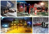 Karambole, wypadki, kolizje w Lubuskiem. Pogoda dała popalić kierowcom [ZDJĘCIA]