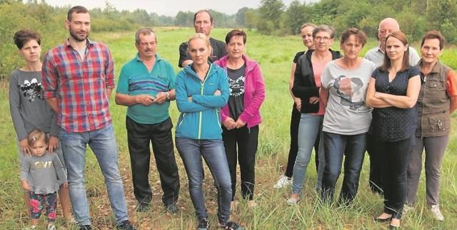 Mieszkańcy Przyborowa, sprzeciwiający się inwestycji