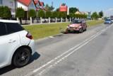 Zderzenie trzech pojazdów w Wiązownicy. Jedna osoba trafiła do szpitala