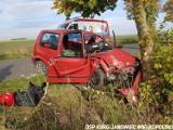 Groźny wypadek w Brudzyniu. Trzy osoby trafiły do szpitali