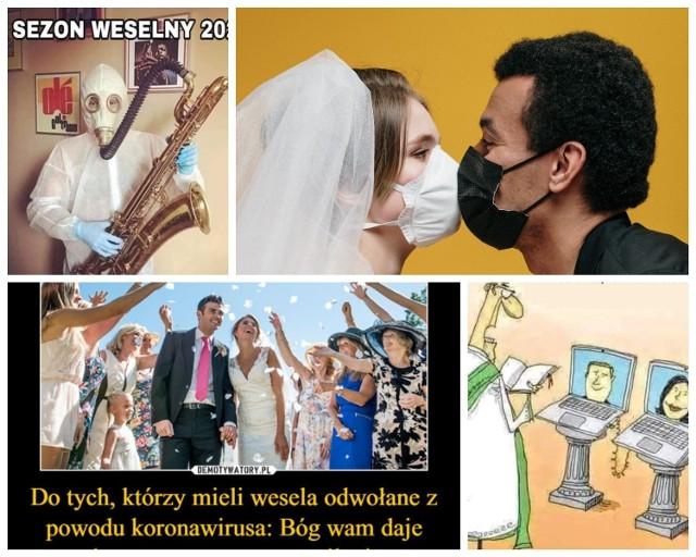 Z powodu pandemii koronawirusa pary młode na całym świecie musiały odwołać, przenieść swój ślub, lub zorganizować go w nietypowych warunkach. Maseczki, rękawiczki i kombinezony będą towarzyszyły nam na ślubach? Internauci z poczuciem humoru komentują obecną sytuację. Zobaczcie najlepsze memy o ślubach w dobie koronawirusa. Na poprawę humoru!  Czytaj też: Czy zaliczki na ślub przepadną przez koronawirusa? Te i inne wątpliwości par młodych wyjaśnia radca prawny - Kinga Tesko   Zobacz memy i demotywatory na kolejnym slajdzie --->