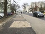 Nowa ścieżka rowerowa na al 3 Maja w Słupsku już z dziurą [ZDJĘCIA[