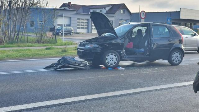 Kierująca Fiatem kobieta trafiła do szpitala