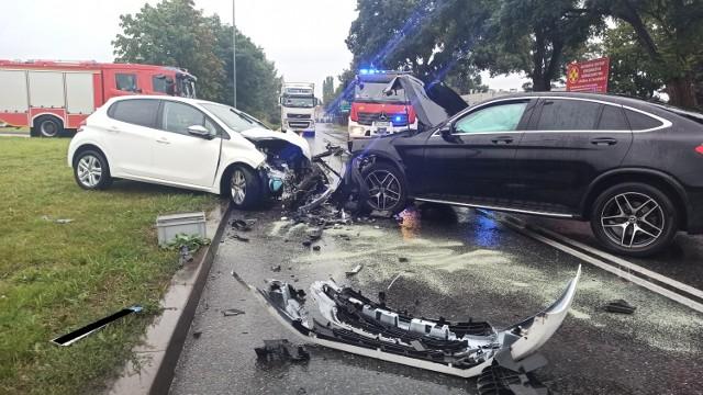 Wypadek na ulicy Sikorskiego w Kaliszu