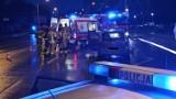 Wypadek w Kaliszu. Pieszy potrącony na ulicy Górnośląskiej. Przechodził w niedozwolonym miejscu. ZDJĘCIA
