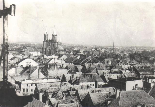 Panorama Legnicy z roku 1947.