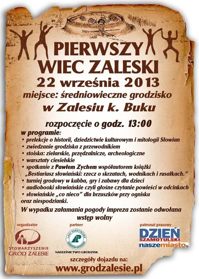 I Wiec Zaleski odbędzie się w niedzielę, 22 września br.