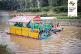 Festiwal Górnej Odry. Ozdobą pływadła w Raciborzu. Na rzece pojawiły się statki, tratwy i kajaki