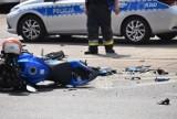 Śmiertelny wypadek w Bytomiu. Motocyklista zmarł po zderzeniu z samochodem osobowym przy ul. Strzelców Bytomskich