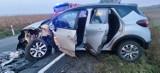 Wypadek dwóch osobówek na DK 15 w Orlince. Kierowca otrzymał mandat w wys. 1000 zł. Nie miał uprawnień [ZDJĘCIA]