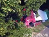 Tragiczny wypadek pod Kaliszem. Nie żyje jedna osoba. ZDJĘCIA