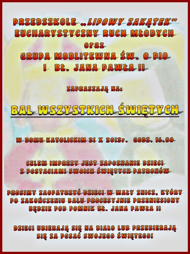Zaproszenie Na Bal Wszystkich świętych Naszemiastopl