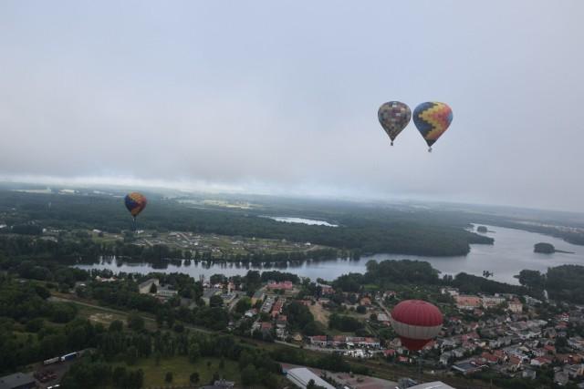 Szczecineckie jezioro Trzesiecko widziane z balonu