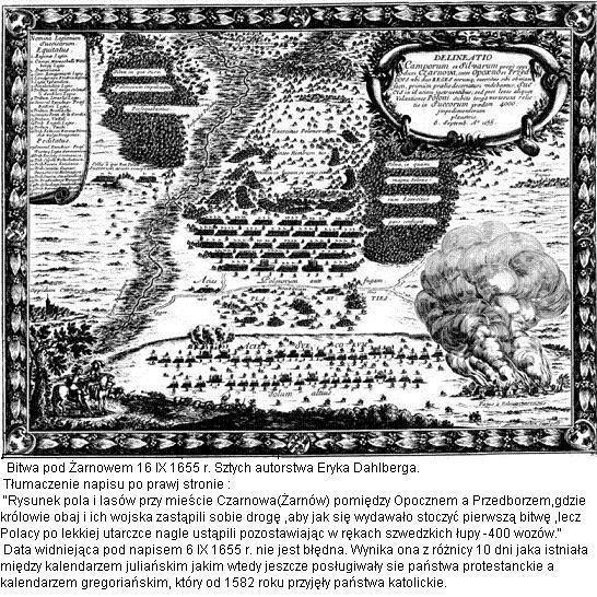 Bitwa pod Żarnowem 16 IX 1655 rok.
