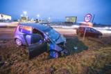 Wypadek we Włynkówku na DK21. Kobieta w szpitalu [ZDJĘCIA, WIDEO]