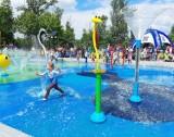 Chorzów: otwarto pierwszy wodny plac zabaw w mieście. Z okazji Dnia Dziecka przygotowano szereg atrakcji.