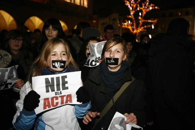 STYCZEŃ - Protes przeciwko ACTA