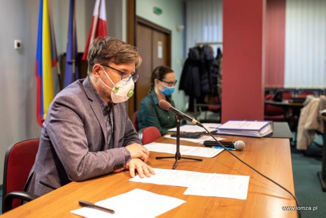 posiedzenie Rady Budżetu Obywatelskiego poprowadził zastępca prezydenta Łomży Andrzej Garlicki