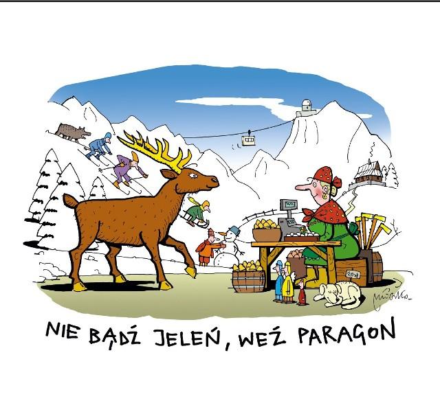 Plakat i pocztówkę przygotował rysownik Andrzej Mleczko