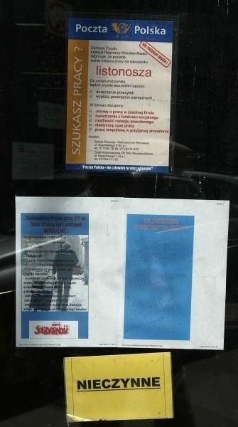 Z powodu strajku listy i  paczki zalegają w skrzynkach i magazynach