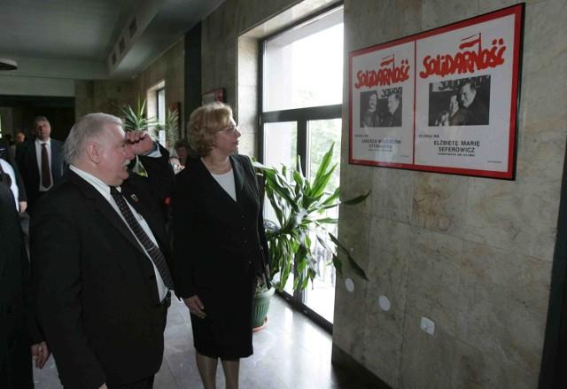 Lech Wałęsa i  Małgorzata Mańka-Szulik