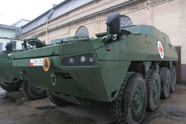 Transportery kołowe Rosomak powstają w siemianowickich Wojskowych Zakładach Mechanicznych