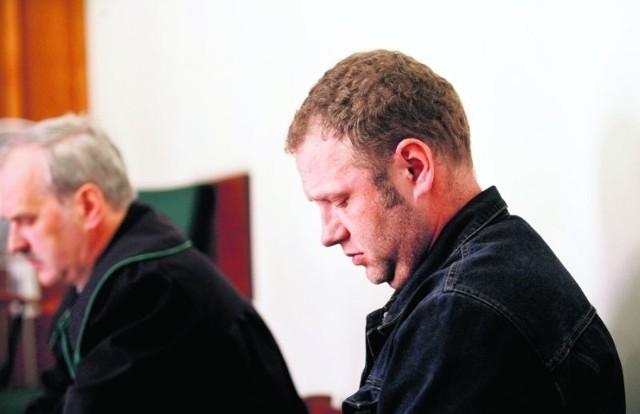 Robert Bielawski podczas legnickiego procesu